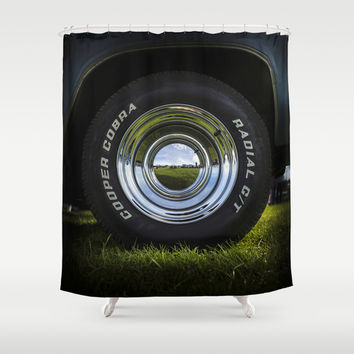 The radial cobra Shower Curtain by HappyMelvin