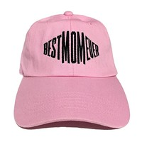 Best Mom Ever Mothers Day Gift Embroidered Unstructured Soft Cotton Adjustable Strap Dad Cap Style Hat