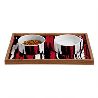 Caleb Troy Crimson Coal Splinters Pet Bowl and Tray