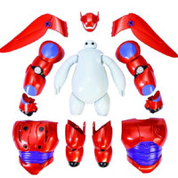 """Big Hero 6 Armor Up Baymax Action Figure 20 pcs set 16cm / 6.3"""" Tall Toy Doll"""