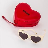 Moschino MO585 Heart Sunglasses- Made in Italy - Designer Sunglasses by Ray Ban, Fendi, Michael Kors and More - Modnique.com