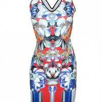 Neoprene Flower Tracers Dress