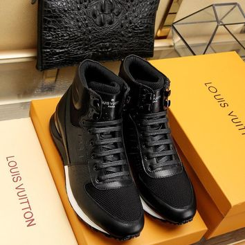 LV Louis Vuitton Man or Woman Fashion Casual Shoes Flats Shoes Leather shoes leather