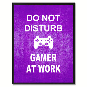 Don't Disturb Gamer Funny Sign Purple Print on Canvas Picture Frames Home Decor Wall Art Gifts 91807