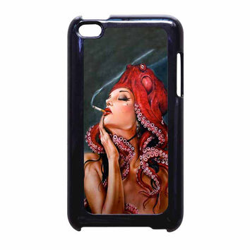Octopus Tattooed Sigaret iPod Touch 4th Generation Case