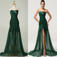 Sexy Short Long Mermaid Bridesmaid Evening Formal Party Cocktail Dress Gown Prom