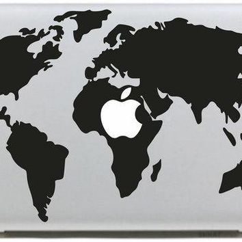World Map Vinyl Sticker for apple Macbook Air 11 12 13 Pro 13 15 17 Retina Decal Car Laptop Multi Skins Pegatinas