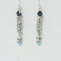 Sonic Screwdriver Earrings (9th/10th Doctor) - Beaded Doctor Who Jewelry