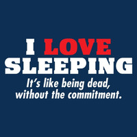 Love Sleeping Like Being Dead Without the Commitment Funny T Shirt  Graphic Shirt Mens Shirt Ladies T Shirt Great Gift Christmas gift