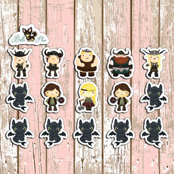 Dragon Planner Stickers | Erin Condren | Inkwell | Kikki K | Filofax | Sticker | Disney | Toothless | Hiccup | How to Train |