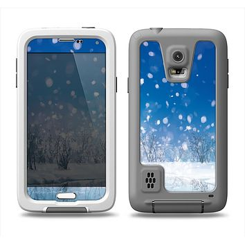 The Frozen Snowfall Pond Samsung Galaxy S5 LifeProof Fre Case Skin Set