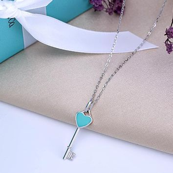 Tiffany New Heart Heart Necklace 925 sterling silver high quality