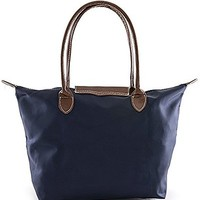 Solid Color Polyester Shopping Tote Bag (Burgandy)