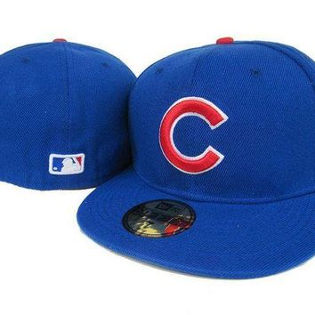 DCCKBE6 Chicago Cubs New Era 59FIFTY MLB Cap Blue-Red