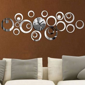 New Quartz Wall Clock Europe Design Reloj De Pared Large Decorative Clocks 3d Diy Acrylic Mirror Living Room