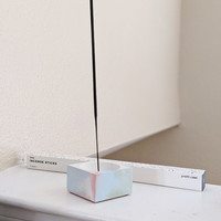 Marbled Square Incense Holder