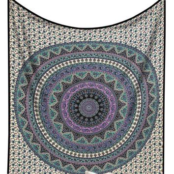 Large Indian Mandala Tapestry Hippie Hippy Wall Hanging Throw Bedspread Dorm Tapestry Decorative Wall Hanging Picnic Beach Sheet