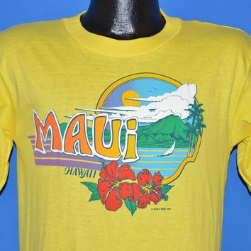 80s Maui Hawaii Rainbow Deadstock t-shirt Medium