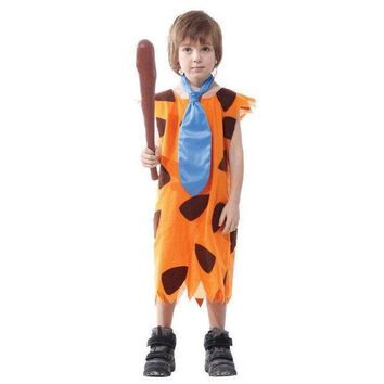 PEAPON Children's Fred Flintstone Halloween Costume Cave stud child Jungle Tarzan caveman Cosplay Fancy dress  Outfit