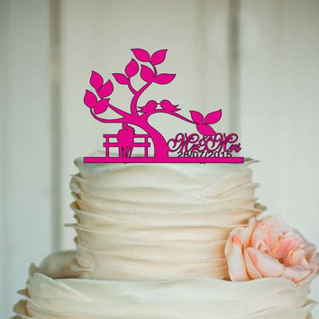 fall sale Personalized Cake Topper - Custom Wedding Cake Topper - Monogram Cake Topper - Mr and Mrs - Cake Decor - Bride and Groom