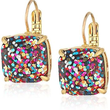DCCKV2S kate spade new york Small Square Lever-Back Drop Earrings