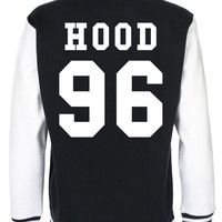 CALUM HOOD 5 Seconds of Summer fashion teenage indie dope swag tumblr back and front print baseball american Varsity Jacket