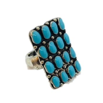Turquoise Chip Stretch Ring