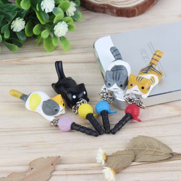 deals] deals] Cute puppy 3.5mm universal dust Plug Earphone Jack Plug Headset Stopper Cap = 5988109441