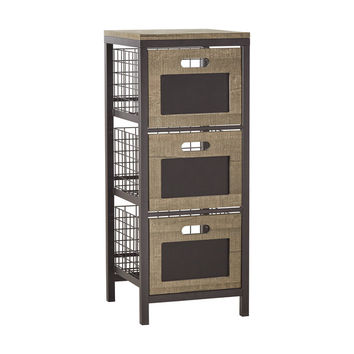 Holtom Wire Basket Storage Tower Organizer Chest | Overstock.com Shopping - The Best Deals on Media/Bookshelves