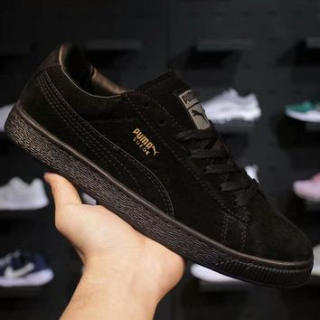 PUMA Suede Classic men's and women's retro sports shoes F-AHXF black