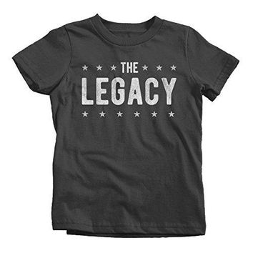 Shirts By Sarah Boy's Kids Matching Father Son T-Shirt Legend Legacy Tee