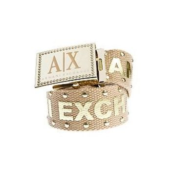 Studded Logo Belt         -                Accessories Shop         -                Womens                       - Armani Exchange