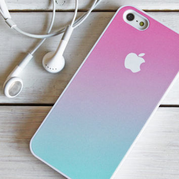 iPhone 5 4 Ombre Case - Gradient Fade  - Samsung Galaxy s3 s4, ipod touch - Pink Mint Green Pastel  - 8A