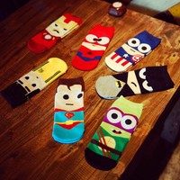 ZDD Men's Superhero Socks