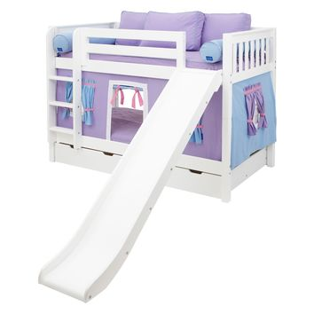 Smile Girl Twin over Twin Slat Tent Bunk Bed | www.hayneedle.com