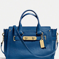 COACH SWAGGER CARRYALL IN NUBUCK PEBBLE LEATHER | Dillards.com