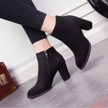 OLIVIA SUEDE ANKLE BOOTS