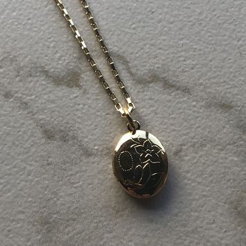 Gold Mini Locket Necklace