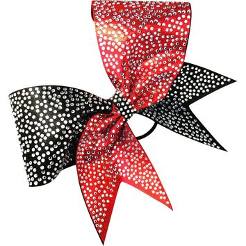 2 color mystique bow with rhinestones
