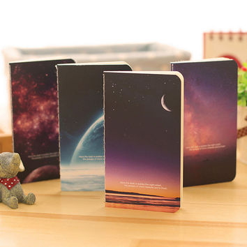 1 x Starry Series mini motebook diary notepad stationery paper memo pad papelaria school office supplies