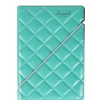 JAVOedge Diamond Pattern Passport Holder (Turquoise)