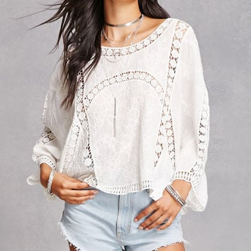 Crochet Dolman Sleeve Top