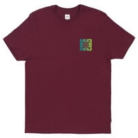 HUF - ILLUSION TEE // BURGUNDY