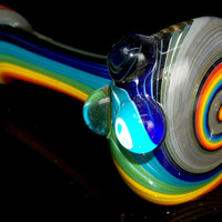 Gold Rainbow Swirl Pipe