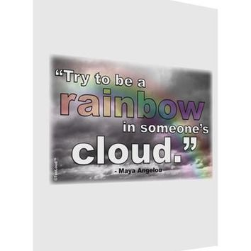 Rainbow in Cloud M Angelou Matte Poster Print Portrait - Choose Size by TooLoud