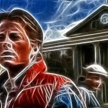 wisp Marty McFly Back To The Future pop art #ed to 25