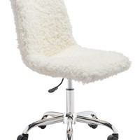 Coco Office Chair Ivory Fur