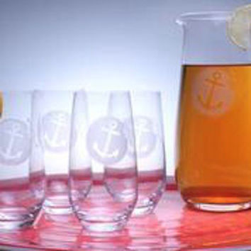 Anchorage Iced Tea Pitcher and Glasses
