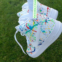 "Custom ""wet n wild"" high air force 1 new af1 all sizes random colors"