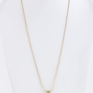 Rectangle Jewel Accent Necklace